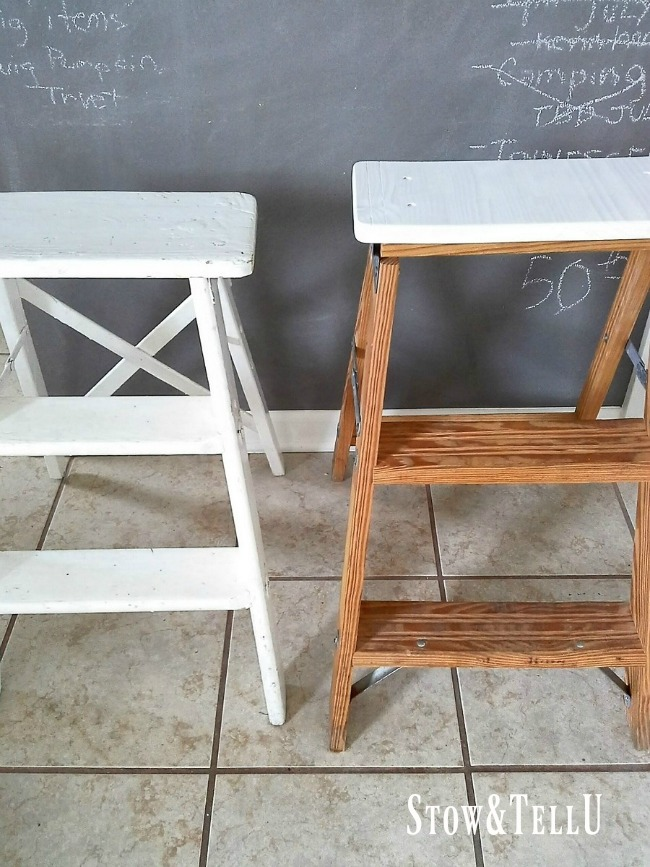 Step Ladder Into A Chair Or Stool