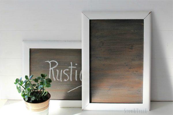 How to make fake/ faux wood grain chalkboard painted surface   StowandTellU