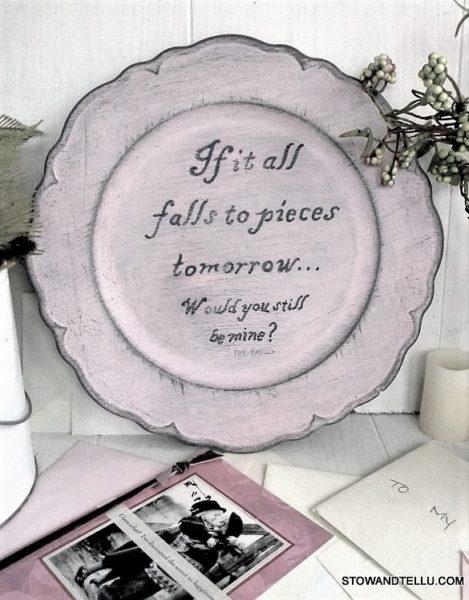 song-lyriuc-painted-plate | StowandTellU.com
