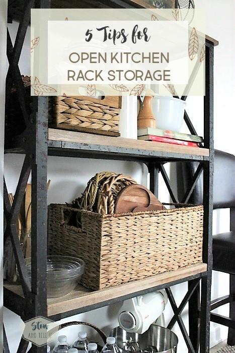 5 Tips for open kitchen rack storage solutions | Stowandtellu.com