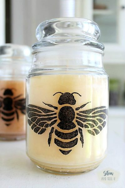 DIY honey bee candle gift idea | Stowandtellu.com