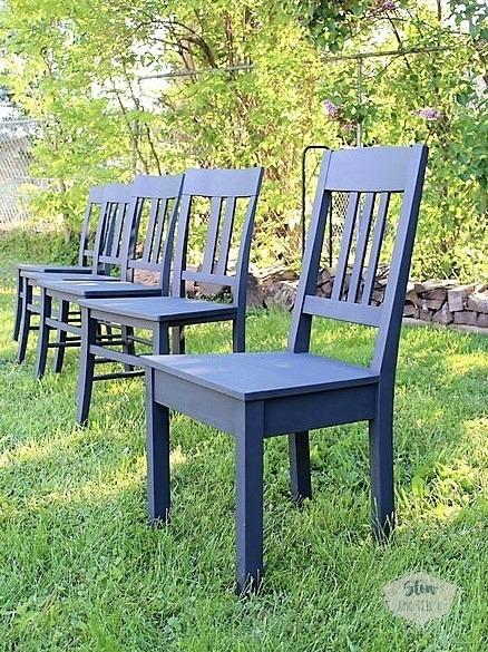 spray-painted-dining-chair-set-chalky-finish | stowandtellu.com
