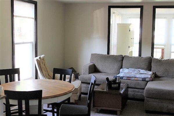 Dark painted trim | Living room cottage eclectic mood board | stowandtellu.com