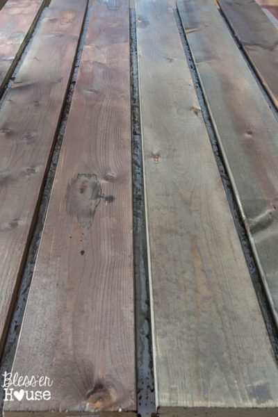 DIY barn wood stain | Blesser House | 10 diy faux wood aging tips