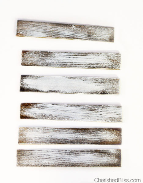 Faux barnwood white wash paint technique   Cherished Bliss   10 Ways to make wood look old