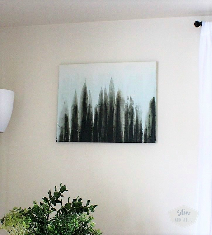 Easy to make watercolor abstract forest scene | drip art painting | stowandtellu.com