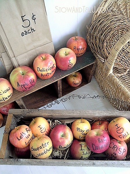 Fall ideas with apples for fall party decor and games, bonfires, Halloween, Thanksgiving and