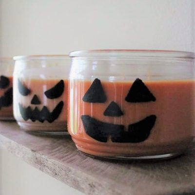 DIY Jar Candle Jack-O-Lanterns