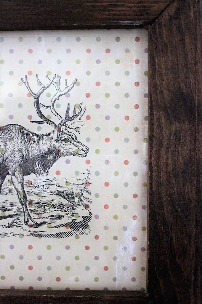 Polka dot scrapbook paper easy reindeer wall art | stowandtellu.com