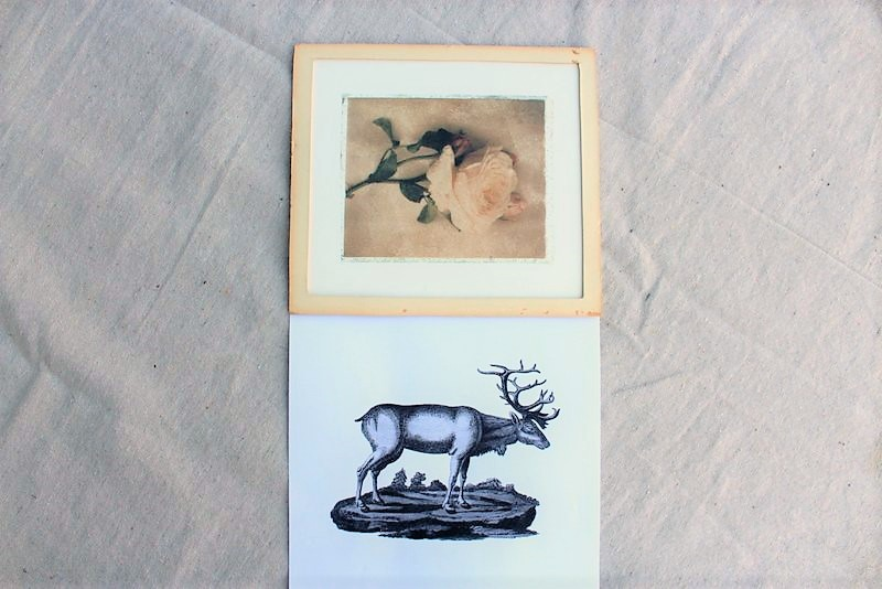 upcycled-picture-frame-reindeer-wall-art