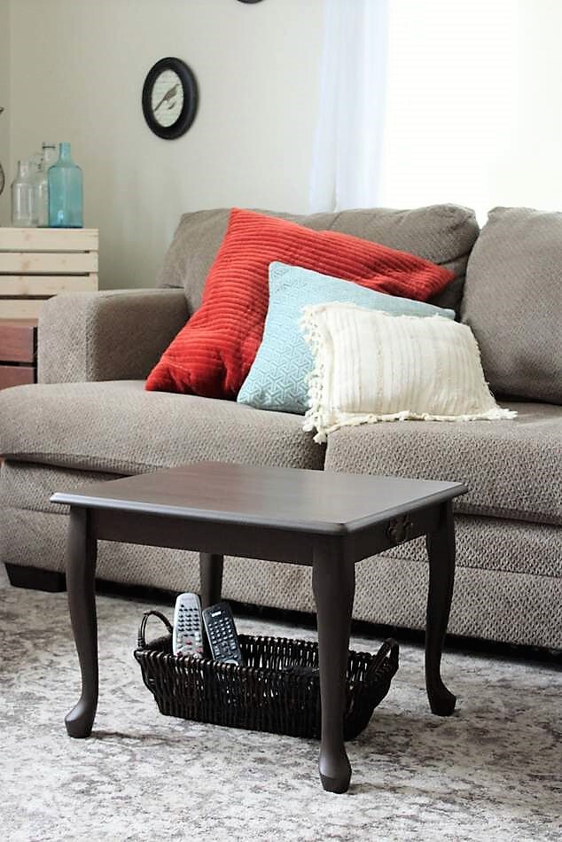 End Table Upcycled As A Small Space Coffee Table Stow Tellu