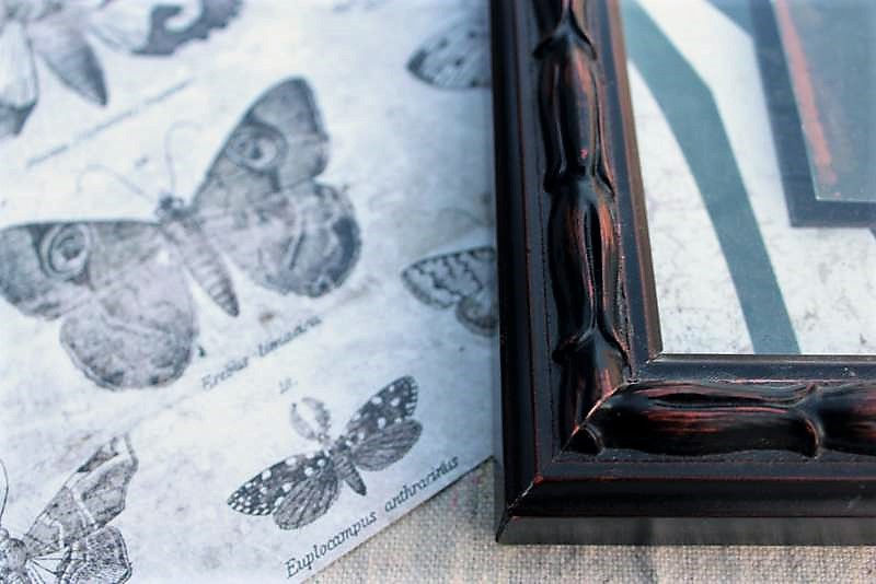 Picture Frame Butterfly Scrapbookpaper