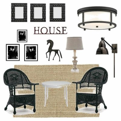 Black and White Sun Porch Makeover Plans