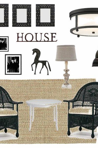 Black and White Sun Porch Idea Plans   StowandTellU