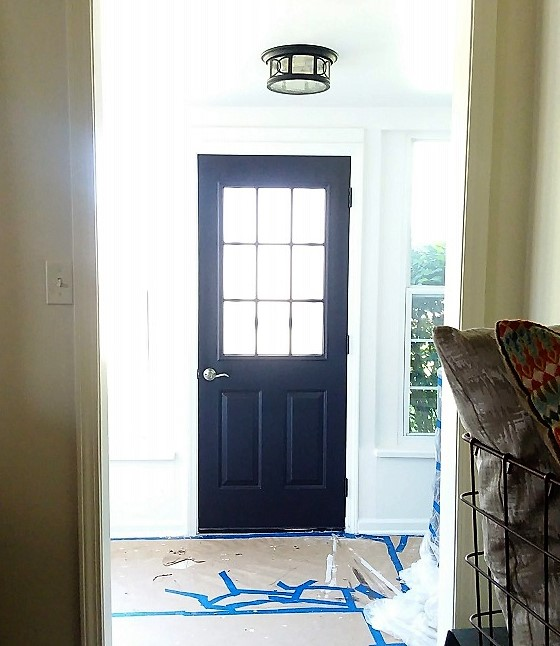 Black-painted-door-sun-porch-makeover
