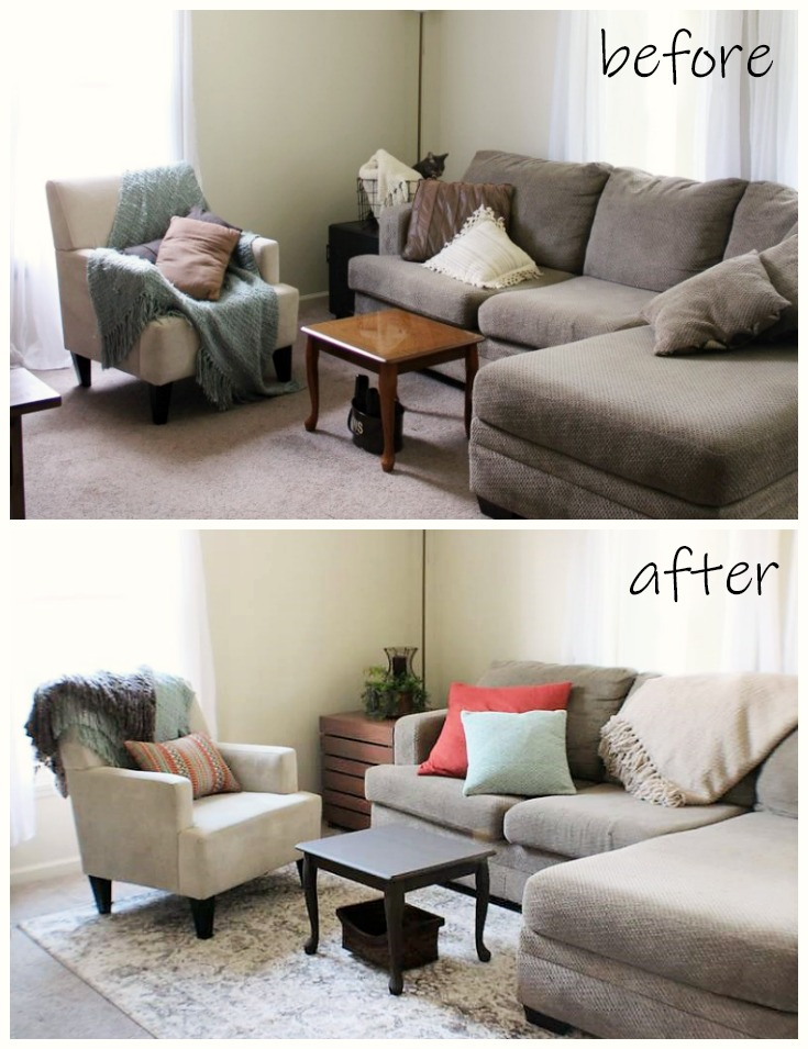 Before and After: Decorating with Area Rugs | Stow&TellU