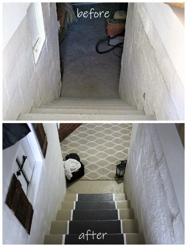 Before and After stairs update | Decorating with Area rugs | stowandtellu.com