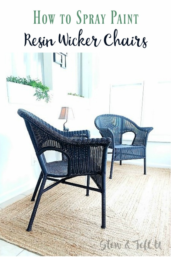Phenomenal How To Spray Paint Resin Wicker Chairs If You Dare Ibusinesslaw Wood Chair Design Ideas Ibusinesslaworg
