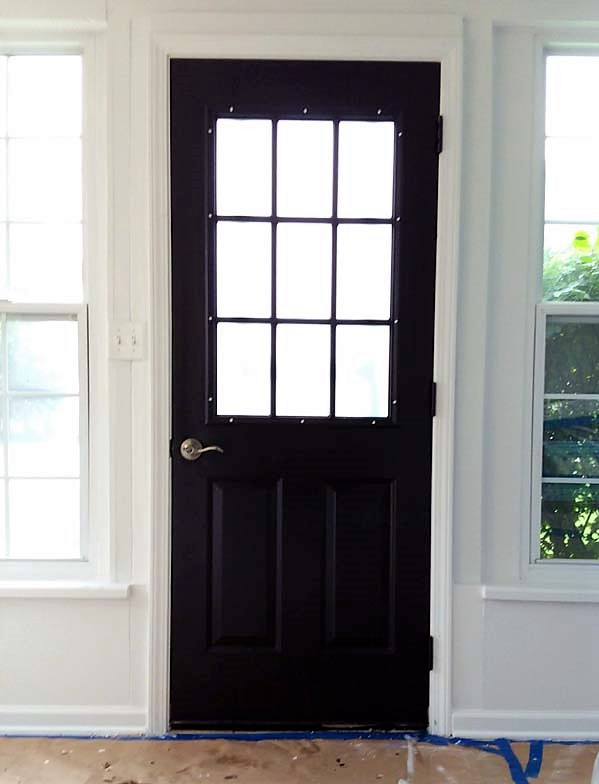 Painted Grid Door color Blackhearth PPG | 10 Steps for Painting Grid Doors