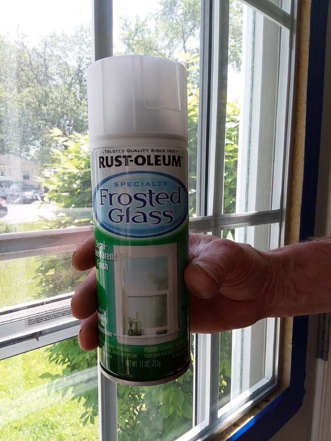 Frosted Glass Paint | 10 Tips to Painting Grid Doors and Frosting the Glass Windows