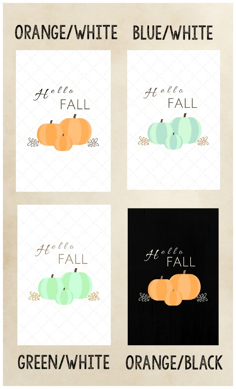 Hello Fall Pumpkin Printable Download collection | stowandtellu.com