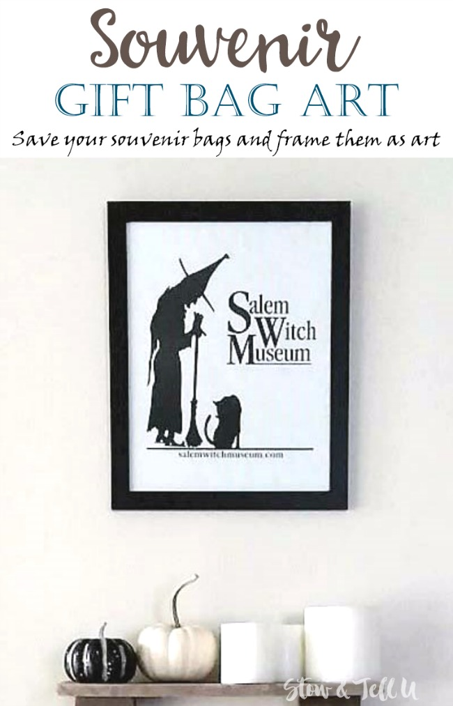 Souvenir Gift Bag Art | Centering and Framing Paper Bag Art | stowandtellu.com