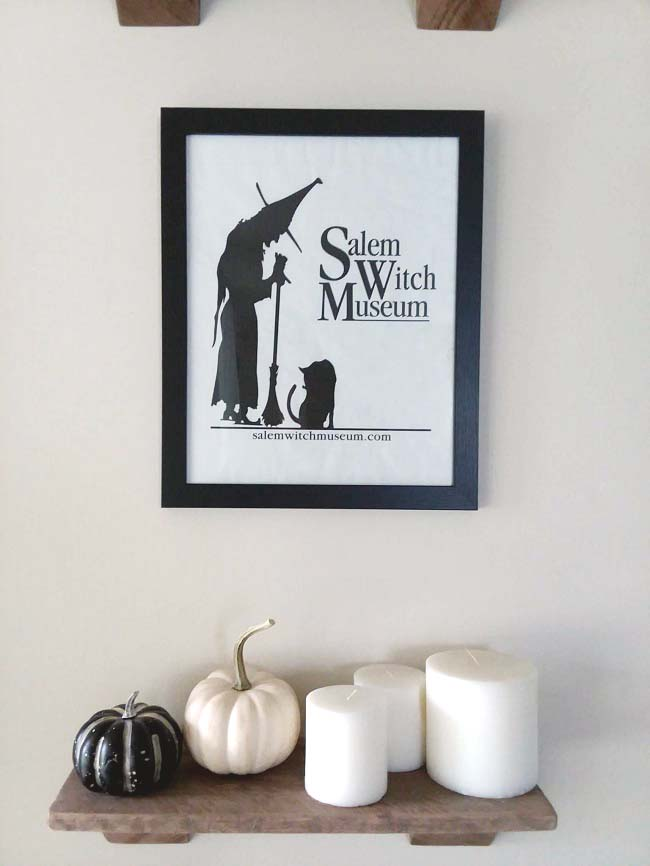 Salem Witch Museum Gift Bag as Upcycled Souvenir Paper Bag as Framed Art | stowandtellu.com