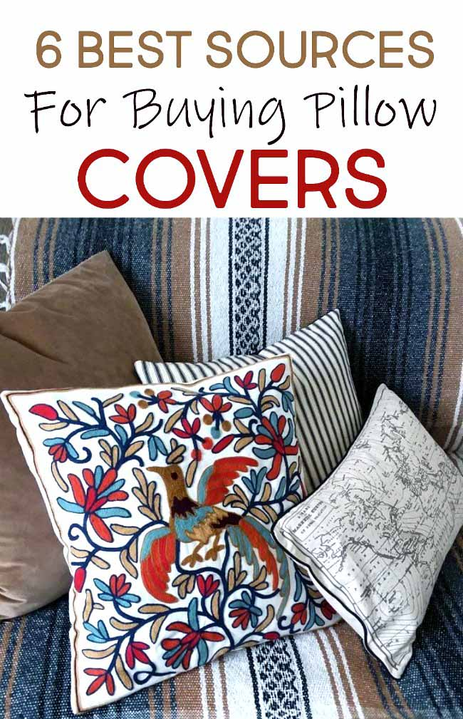 6 Best Sources Where to Buy Throw Pillow Covers Online | sources for decorative throw pillows and inserts | stowandtellu.com