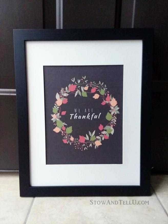 Framed Thanksgiving Wreath Printable | stowandtellu.com