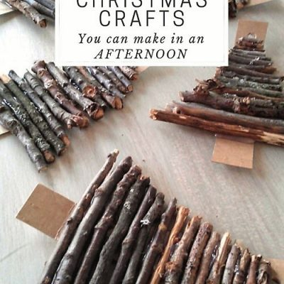 6 Nature Inspired Christmas Crafts You Can Make in an Afternoon!