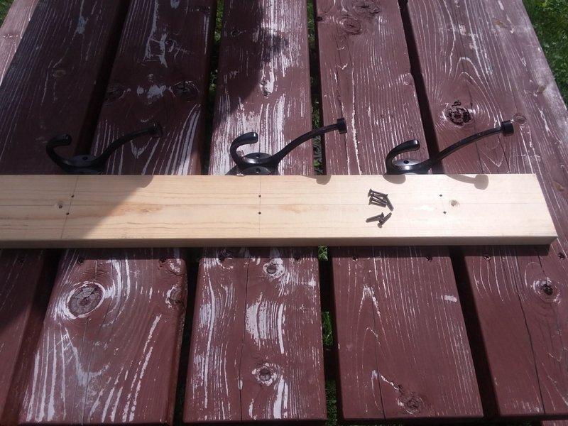 Vertical Wood Wall Rack