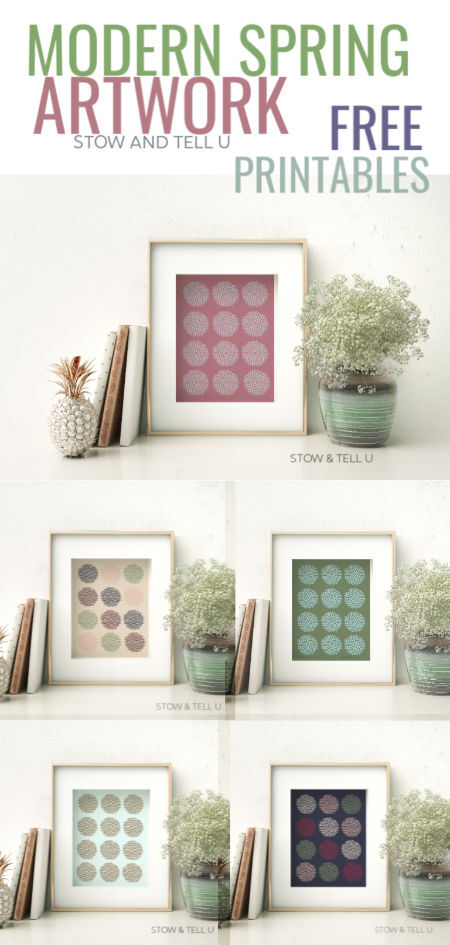 Modern Spring Inspired Artwork Free Printables | Stowandtellu