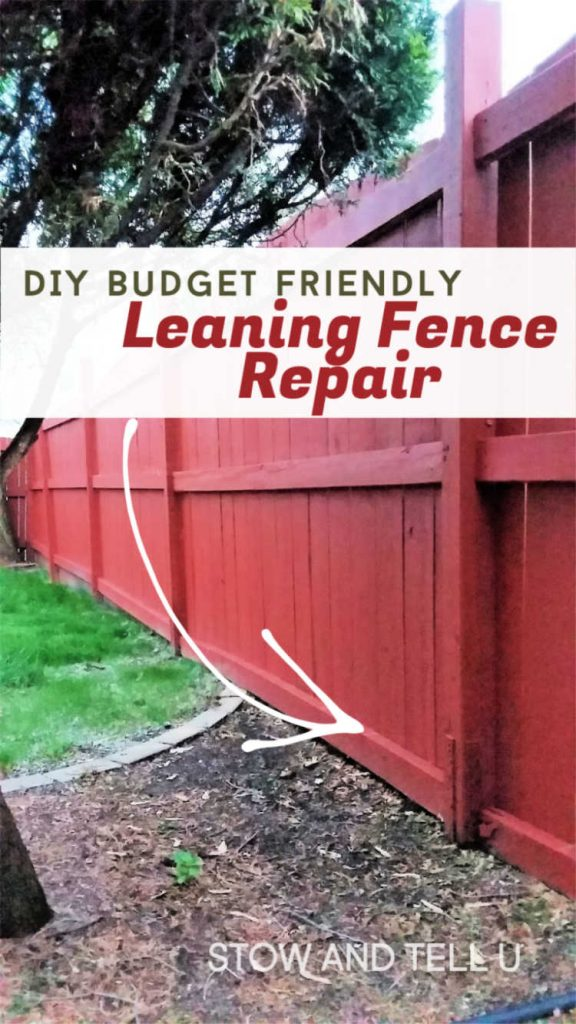 diy budget friendly leaning fence repair solution