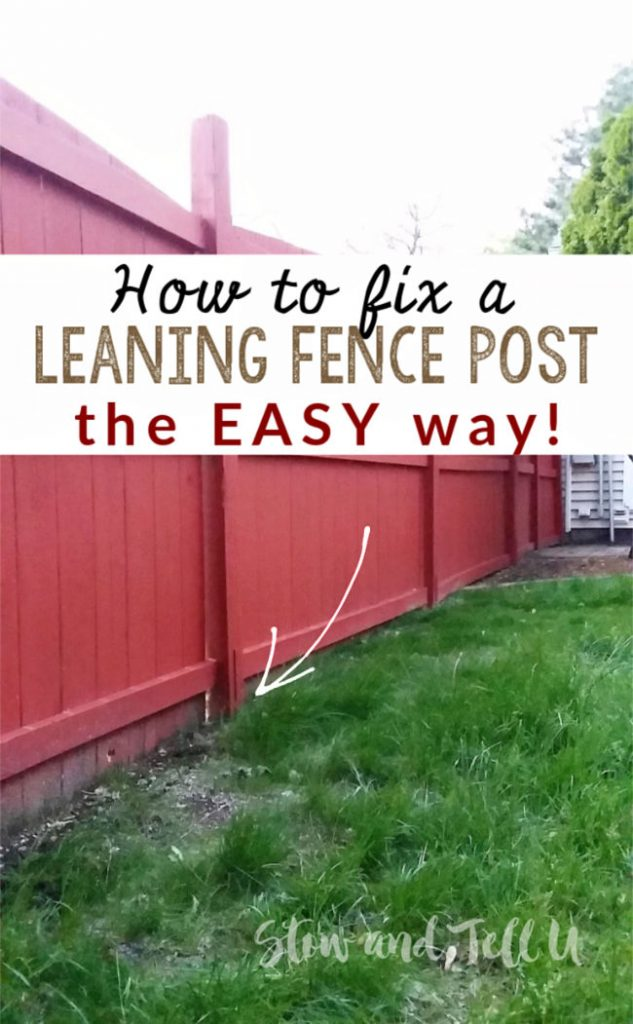 fix leaning fence post the easy way