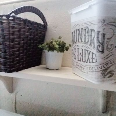 Clean and Simple Budget Basement Laundry Room Makeover