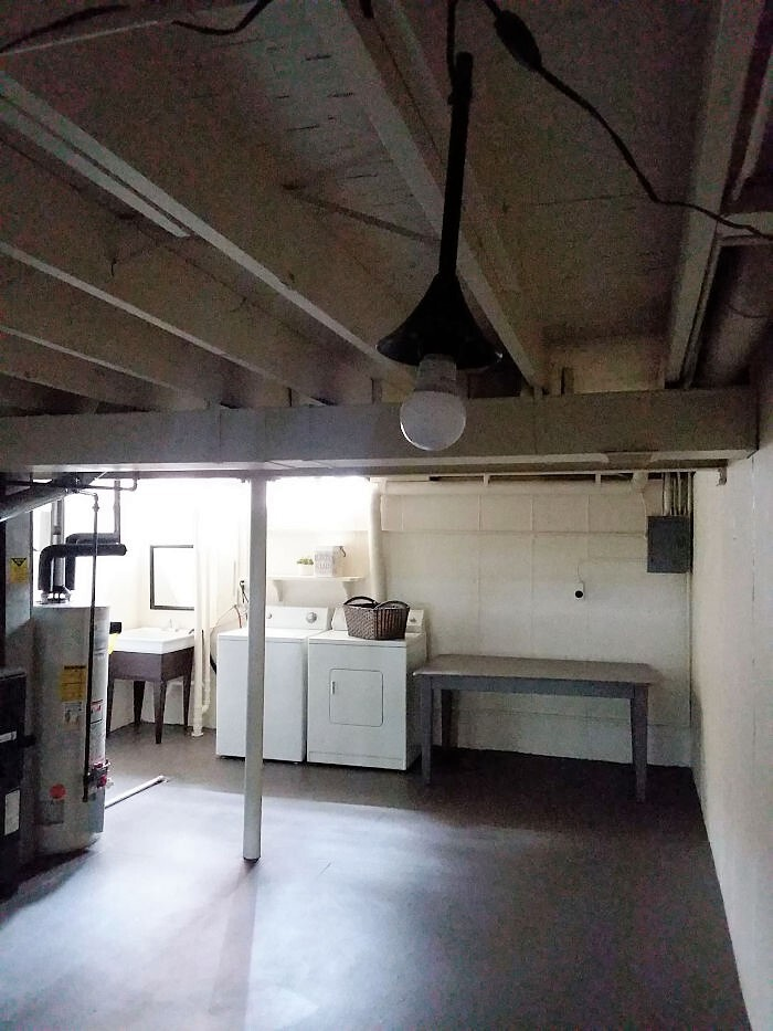 Clean Simple Budget Basement Laundry Room Makeover Stow Tellu