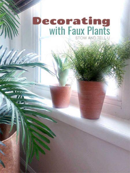 8 ideas decorating faux plants