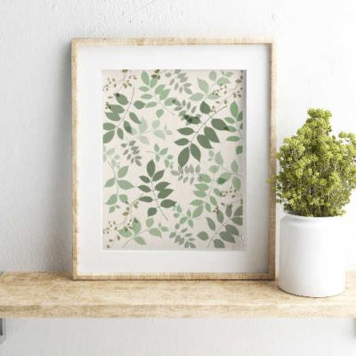 Ready to Frame: Free Botanical Printable in 6 Color Options
