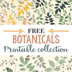 Botanical Artwork Free Printable