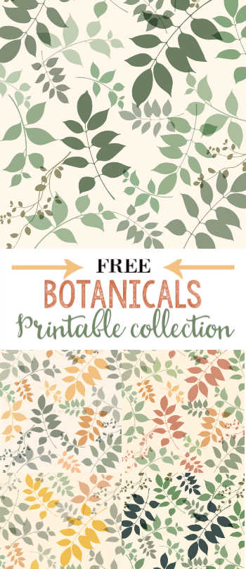 Free Botanical Printables 6 color options