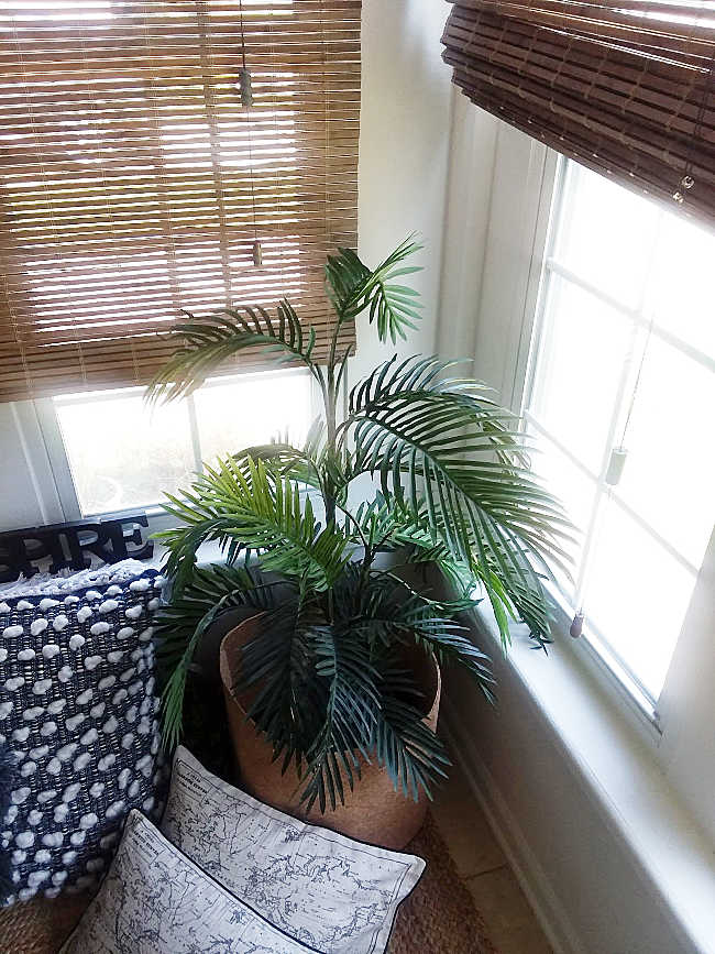 decorating with fake plants
