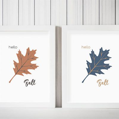 "Free ""Hello Fall"" Oak Leaf Printable"
