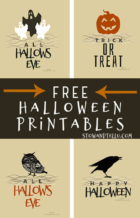 All Hallows Eve Halloween Free Printable Collection