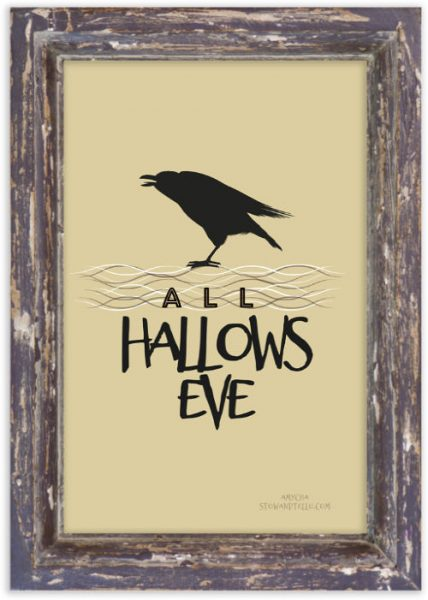 Hallows-Eve-Halloween-Black Crow Free Printable