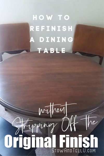 How to Refinish Wood Dining Table without Stripping Off Original Coat