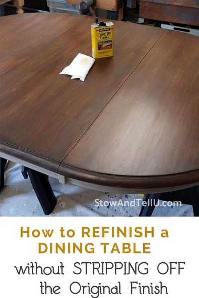 How to Refinish a Dining Table without Stripping Off Original Finish