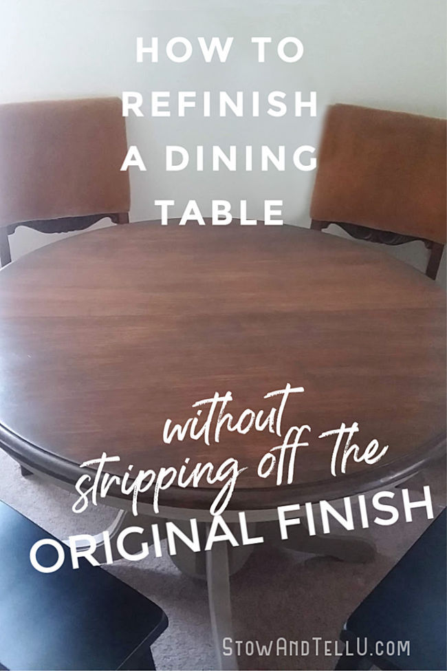 How To Refinish A Dining Table Without Stripping The Original Coat