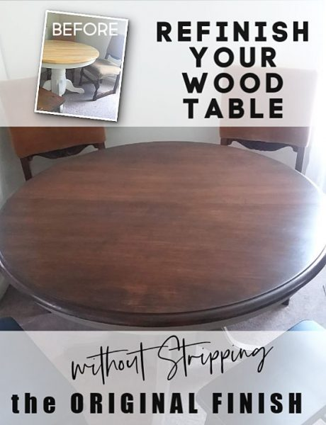 Refinishing Wood Dining without Stripping Original Stain