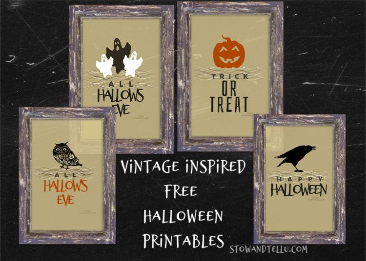 Vintage Inspired Halloween Free Printables | stowandtellu