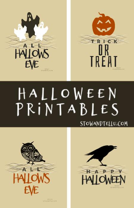 Vintage Inspired Free Halloween Printables